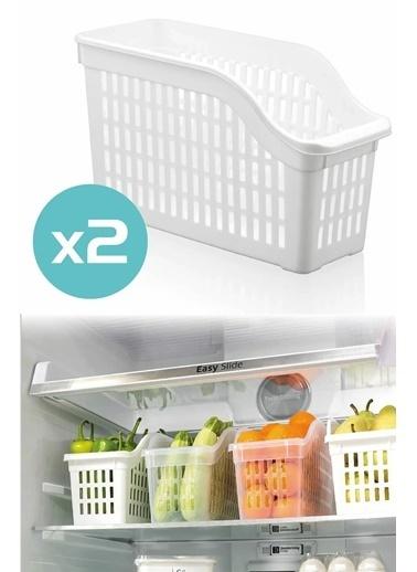 Bayev 2`li Buzdolabı Düzenleyici Set Renkli